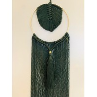 Macramé home dream Defne velvet green
