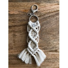 Macramey Knotted key ring