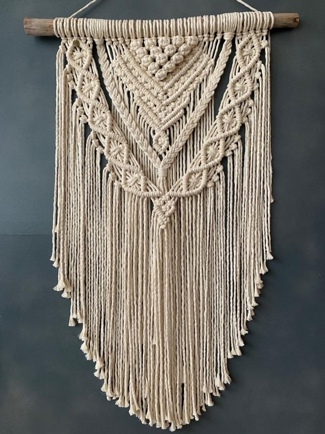 Macrame wall hanging Druiven - tapestry